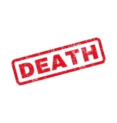 Death text rubber stamp vector