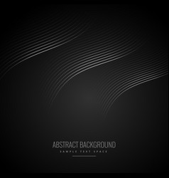 Abstract black background with curve lines vector