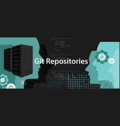 Git repositories software subversion backup server vector