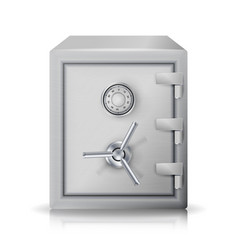 Metal safe realistic  3d  icon vector