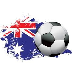 Australia Soccer Grunge vector image
