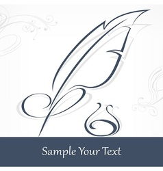 Quill pen and text vector