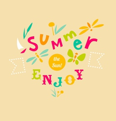 Summer typographic design vector