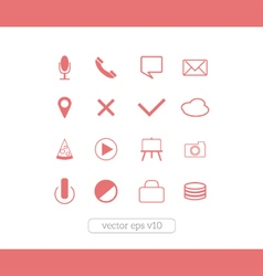 Icons website set vector