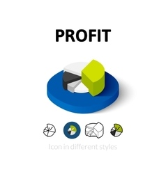 Profit icon in different style vector
