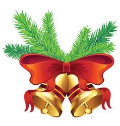 Golden Christmas Bell5 vector image