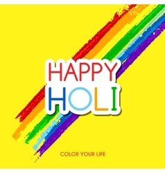 Happy holi greeting card vector