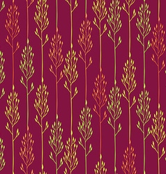 Floral pattern with spikelets and grass vector