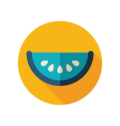 Watermelon slice flat icon summer vacation vector