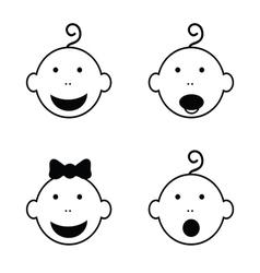 baby head vector image