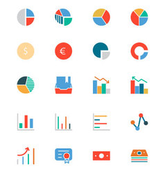 Banking and Finance Colored Icons 11 vector image vector image