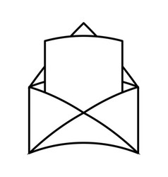 Blank message coming out of envelope icon image vector