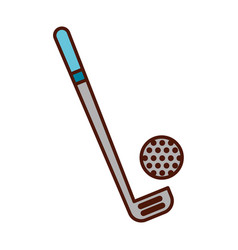 Brightly golf club and ball vector