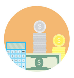 Calculate money icon vector