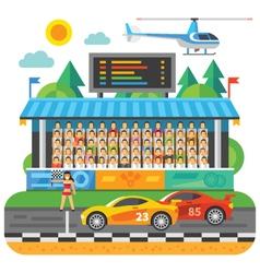 Car Race vector image