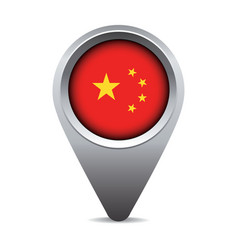 China flag pointer vector