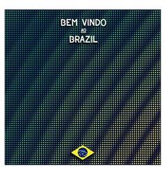 Digital Brazil background vector image