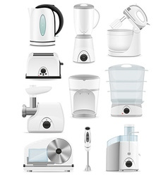 electrical appliances for the kitchen 01 vector image vector image