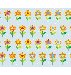 Flower seamless pattern simple and cute vector