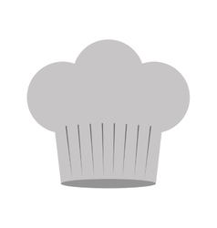 Gray scale silhouette of chefs hat in cake shape vector