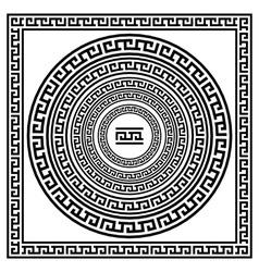 Greek traditional meander border set antique frame vector image
