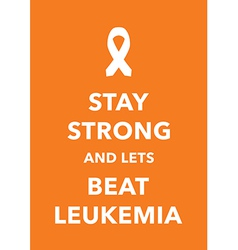 leukemia poster vector image vector image