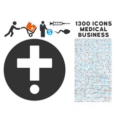 medical pharmacy icon with 1300 medical business vector image