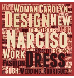 Narciso rodriguez text background wordcloud vector