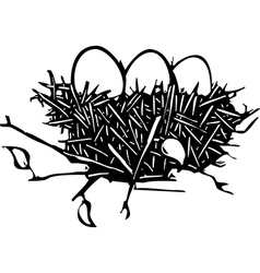 Nest of eggs vector