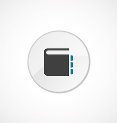 notepad icon 2 colored vector image