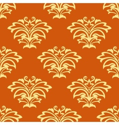 Orange and beige seamless pattern vector image vector image