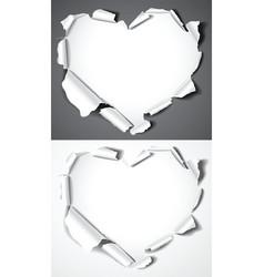 paper hearts vector image vector image