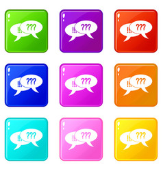 question and exclamation set 9 vector image vector image