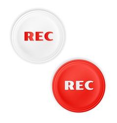 Rec button vector