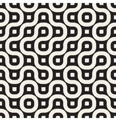 Seamless Black And White Geometric Rounded vector image vector image