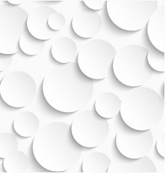 Seamless pattern of white circles with drop vector