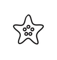 Starfish sketch icon vector