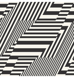 Striped textured geometric seamless pattern vector