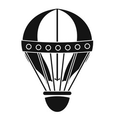 Vintage hot air balloon icon simple style vector