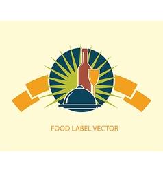 Food emblem label vector