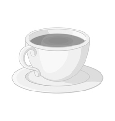 Cup of tea icon black monochrome style vector