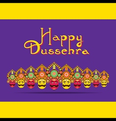 happy dussehra festival greeting or poster design vector image