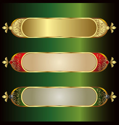 Frames with a gold rim and vector