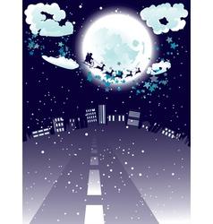 Santa Claus Coming to City6 vector image