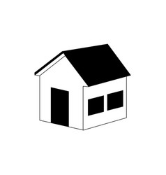 silhouette side view silhouette house icon vector image