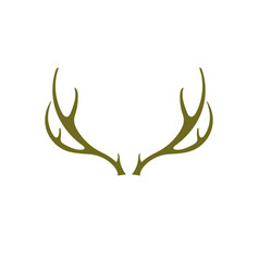 Silhouette of the deer horns vector