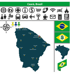 map of ceara brazil vector image