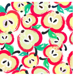 painted apple pattern background vector image