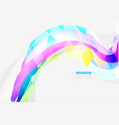 Abstract colors square shape scene vector