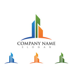 Real estate property and construction logo design vector